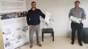 Onderzoekers Tim Horeman (links) en Bart van Straten (rechts). Foto: TU Delft